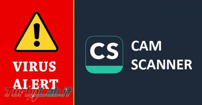 Rilevato malware popolare app Android CamScanner - camscanner-android-malware