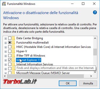Rimuovere Internet Explorer Windows 10: guida disinstallare IE modo pulito corretto