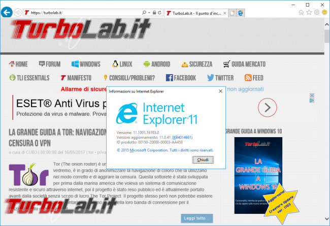 Rimuovere Internet Explorer Windows 10: guida disinstallare IE modo pulito corretto - internet explorer 11 in windows 10