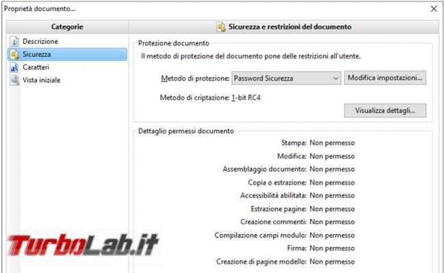 Rimuovere password d'apertura protezioni file PDF