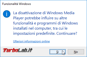 Rimuovere Windows Media Player Windows 10: guida disinstallare WMP modo pulito corretto
