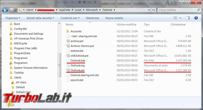 Riparare archivi pst posta microsoft outlook