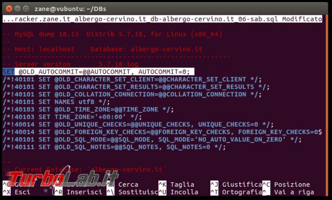 Ripristino backup MySQL/mysqldump: semplice trucco velocizzare massimo operazioni (autocommit=0)