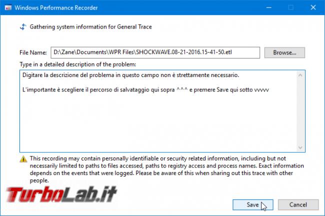 [risolto] Aiuto! problema processo System: alto uso CPU (50-100%) PC Windows lentissimo: come risolvere? Guida Windows Performance Toolkit - windows performance recorder save etl