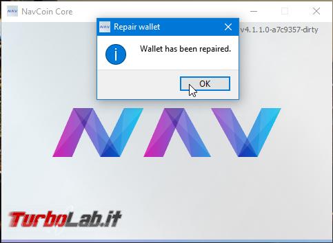 [risolto] Aiuto wallet NavCoin! Mi sono sparite quasi tutte monete NAV!