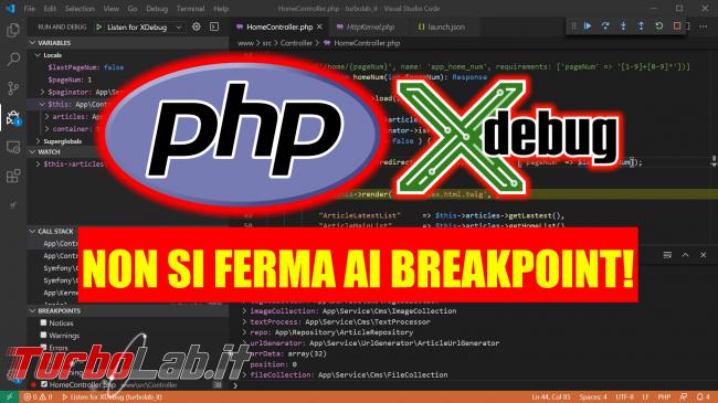 [risolto] Aiuto, Xdebug non funziona PHP non si ferma breakpoint Visual Studio Code phpStorm: cosa devo fare? - xdebug non ferma breakpoint