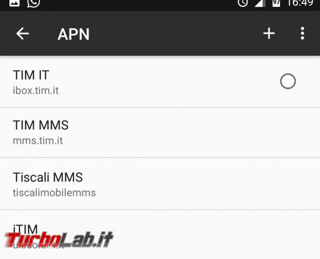 [risolto] APN Iliad Android: come configurare Internet 4G (parametri connessione dati smartphone) - Screenshot_20170204-164940