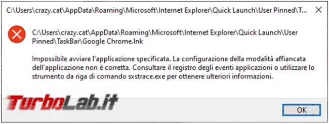 [risolto] Chrome non si avvia perché configurazione modalità affiancata non è corretta