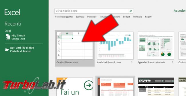 [risolto] Come aprire csv Excel 2016 (tutti dati prima colonna?!)