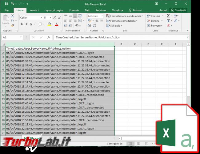 [risolto] Come aprire csv Excel 2016 (tutti dati prima colonna?!) - spotlight excel csv