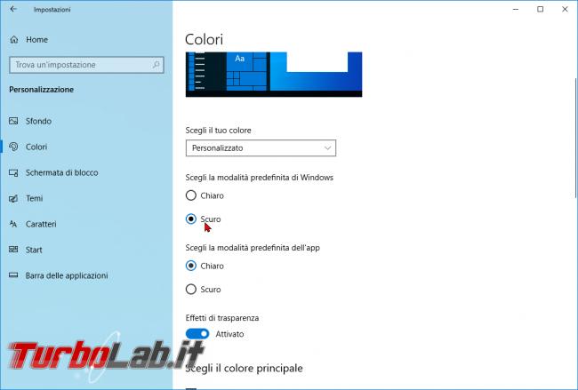 [risolto] Come attivare tema scuro chiaro Windows 10 (guida rapida) - zShotVM_1552722048