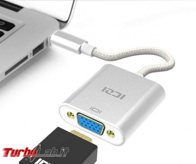 [risolto] Come collegare nuovo PC portatile USB Type-C vecchio schermo esterno VGA (D-Sub, porta azzurra/blu) - ICZIIZEC-A55-IT