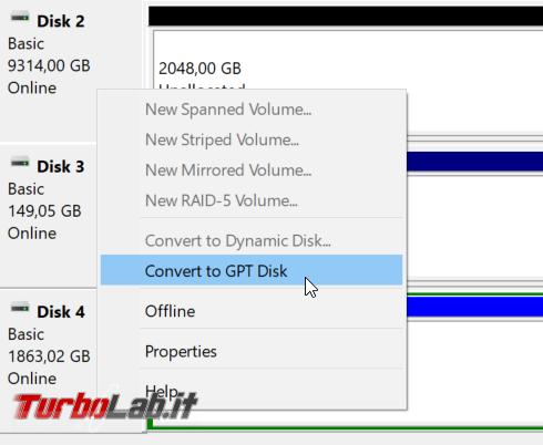 [risolto] Come convertire disco / SSD MBR GPT (guida)