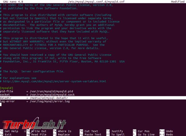 [risolto] MySQL 8 Ubuntu: come spostare file database salvare dati altro percorso (disco rete, SSD, NAS, USB) - mysql datadir conf