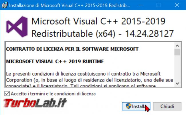 [risolto] Posso disinstallare Microsoft Visual C++ Windows (rimuovere vecchie versioni 2017, 2015, 2013)?