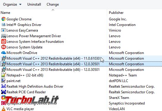 [risolto] Posso disinstallare Microsoft Visual C++ Windows (rimuovere vecchie versioni 2017, 2015, 2013)? - Mobile_zShot_1496437913