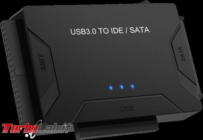 [risolto] Problema hard disk / SSD non riconosciuto rilevato: cosa fare quando Windows non vede nuovo disco (guida) - adapter usb ide sata
