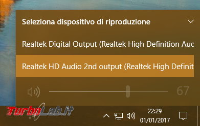 [risolto] Problema Windows 10: cuffie auricolari (jack audio frontale case) non funzionanti Realtek HDA (High Definition Audio)