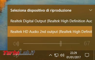 [risolto] Problema Windows 10: cuffie auricolari (jack audio frontale case) non funzionanti Realtek HDA (High Definition Audio)