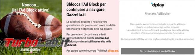 [Risolto] sito mi chiede disattivare AdBlock io non ho adblock installato