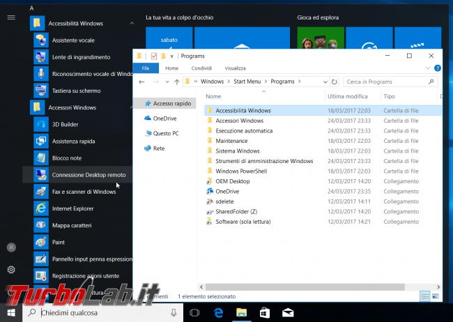 [risolto] Windows 10: come creare backup menu Start? Dove sono salvati collegamenti? Come aggiungere menu Start collegamento programma portable?