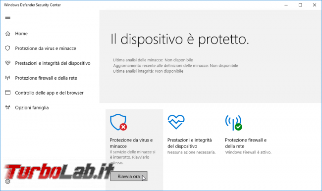 [risolto] Windows 10: come terminare/arrestare/disabilitare Windows Defender processo Antimalware Service Executable (MsMpEng.exe, alta % uso CPU)