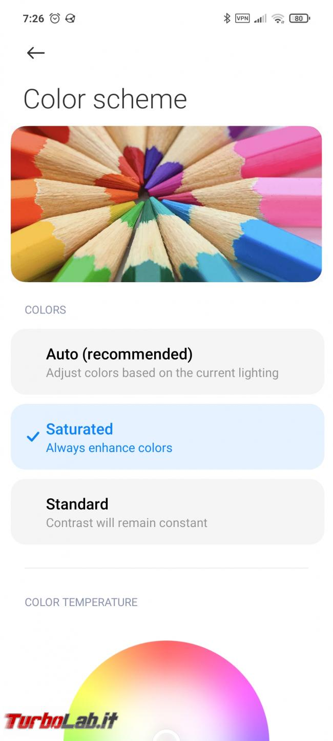 [risolto] Xiaomi, Pocophone, Poco X3: colori spenti flash nero quando apro Chrome - Screenshot_2020-11-24-07-26-07-685_com.android.settings