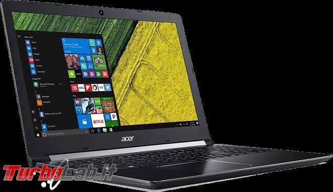 Risparmiare acquistando notebook generazione precedente: migliori PC portatili 2018 - acer aspire 2018 notebook