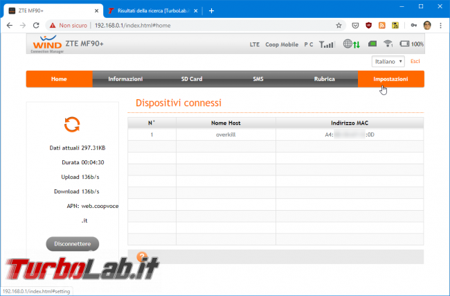 Router/hotspot mobile Wind 4G ZTE MF90: come utilizzare SIM qualsiasi operatore (Vodafone, TIM, 3, Tiscali, Fastweb, Coop VOce, Iliad, ho. mobile) - Mobile_zShot_1581157653