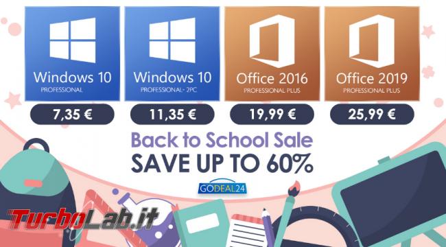 Saldi Back to School: Windows 10 stra economico partire 7 euro Godeal24! - FrShot_1630566603