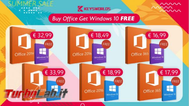 Saldi estivi: Windows 10 gratis tante altre offerte - FrShot_1589881422