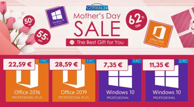 Saldi Festa Mamma: Windows 10 Pro soli 7,35 euro!