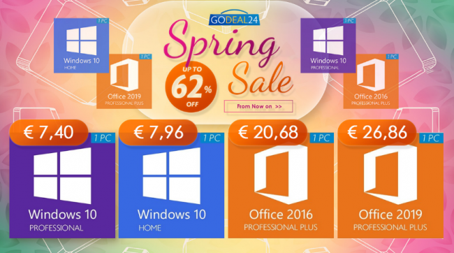 Saldi Software Primavera - Windows 10 Pro 7.40 €, Office 2019 26.86 € altre offerte limitate! - FrShot_1614181073_