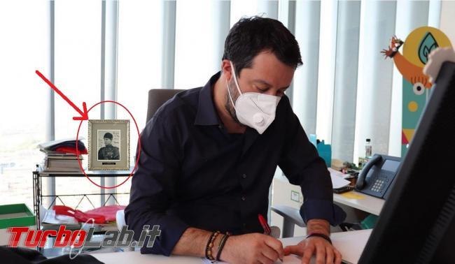 Salvini foto Duce sfondo: verità finzione?