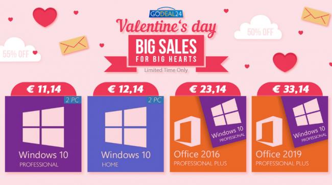 San Valentino... regalo speciale! Acquista coppia, risparmi più. Windows 10 soli 5 € - FrShot_1612864019_