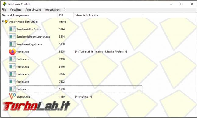 Sandboxie crea 'area virtuale proteggere sistema operativo browser