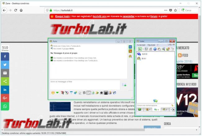 Scambia messaggi, condividi file desktop computer rete grazie BeeBEEP