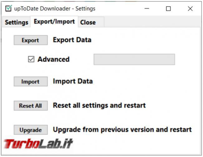 Scarica tutti programmi preferiti Uptodate downloader