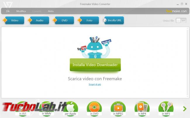 Scaricare Web convertire video altri formati Freemake Video Converter