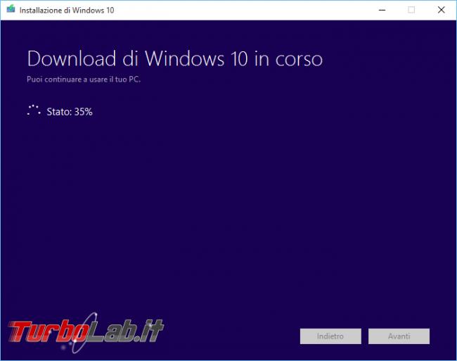 Scaricare Windows 10 DVD/ISO italiano: download diretto ufficiale (versione 1607 Anniversary Update, Aggiornamento luglio 2016) - windows 10 iso download 06