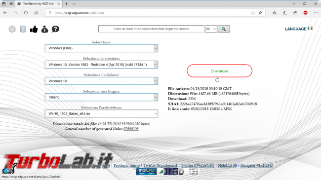 Scaricare Windows 10 DVD/ISO italiano: download diretto ufficiale (versione 1803, Aprile 2018)