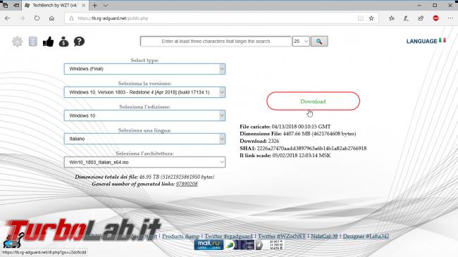 Scaricare Windows 10 DVD/ISO italiano: download diretto ufficiale (versione 1809, Ottobre 2018)