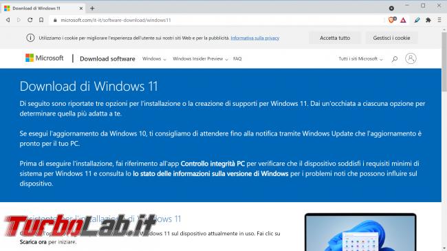 Scaricare Windows 11 DVD/ISO italiano: download diretto ufficiale (versione RTM finale) (video)