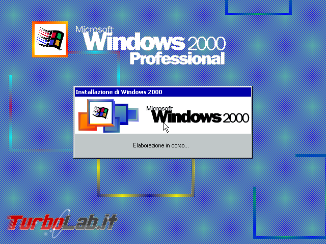 Scaricare Windows 2000 CD/ISO italiano: download diretto ufficiale (edizione Professional Service Pack 4, MSDN) - windows 2000 loading