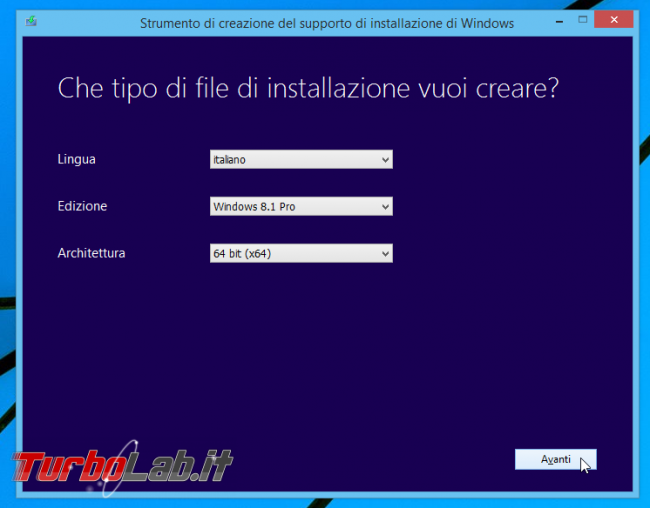 Scaricare Windows 8.1 DVD/ISO italiano: download diretto ufficiale - Windows Installation Media Creation Tool
