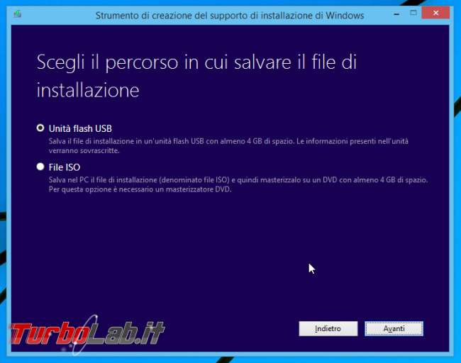 Scaricare Windows 8.1 DVD/ISO italiano: download diretto ufficiale - Windows Installation Media Creation Tool scelta media