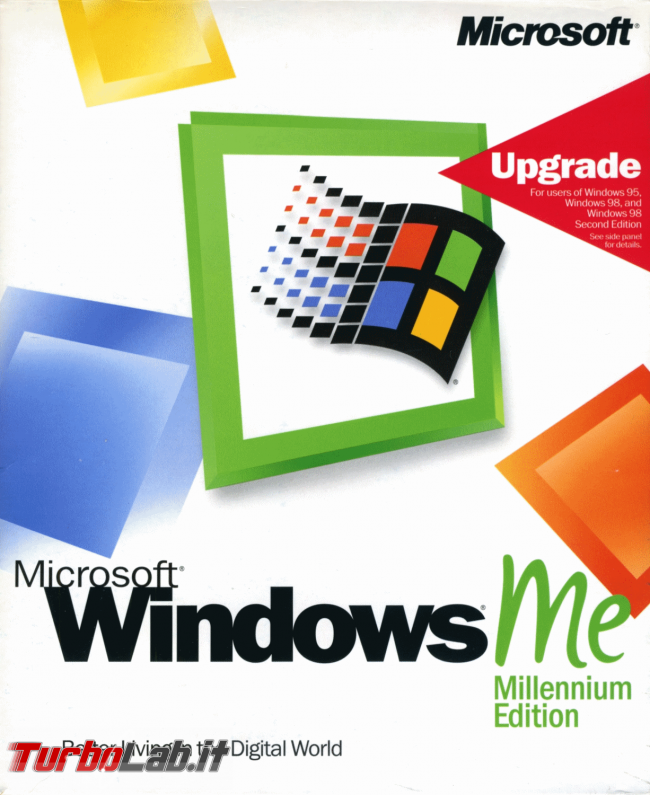 Scaricare Windows ME (Millennium Edition) CD/ISO italiano: download diretto verificato - windows me millennium edition box