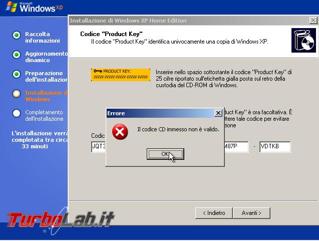 Scaricare Windows XP CD/ISO italiano: download diretto ufficiale - windows xp sp3 setup oem product key retail cd