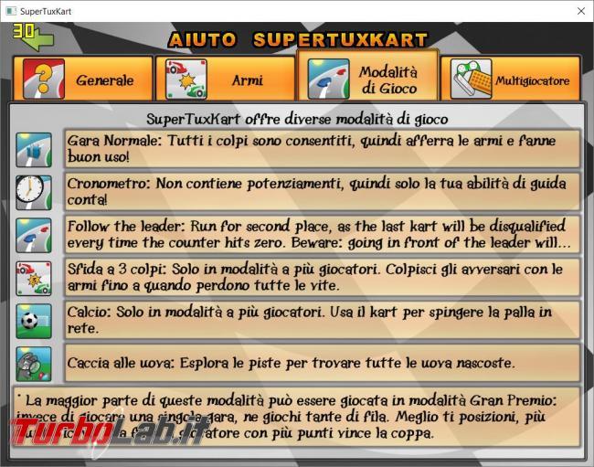 Scendi pista corri SuperTuxKart