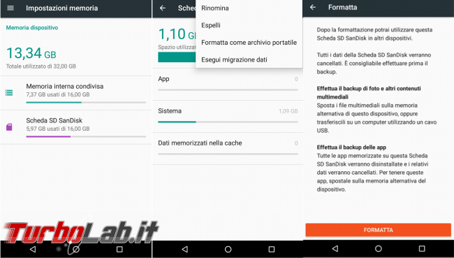 Scheda SD Android: memoria interna memoria portabile?